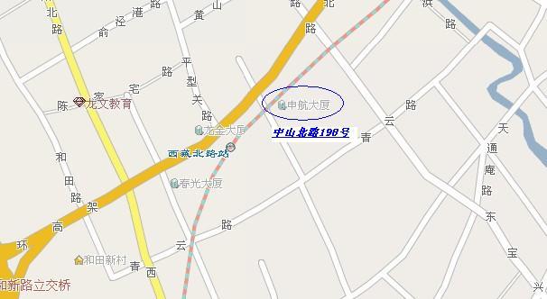 公司地址变更为:上海市闸北区中山北路198
